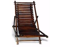 New Single Eco Bamboo Folding Chair