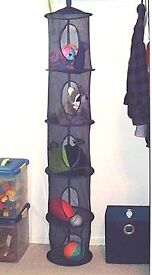 Black Ikea hanging toy tidy