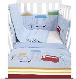 Mothercare Happy Town Bedding - 5 Pieces - Used
