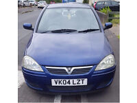 VAUXHALL CORSA 1.2 FOR SALE 2004, CHEAP AND RELIABLE, LONG MOT