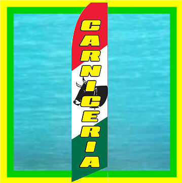 Carniceria Advertising Feather Swooper Bow Banner Flag