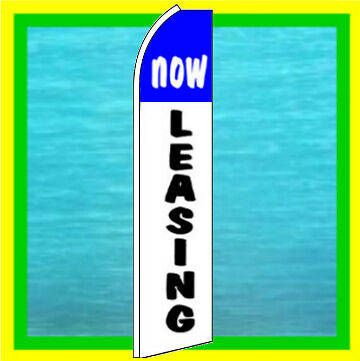 Now Leasing Banner Flag Real Estate Advertising Feather Swooper Bow Flutter