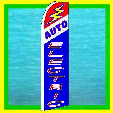 Auto Electric Swooper Flag Repair Advertising Sign Feather Bow Banner Flutter