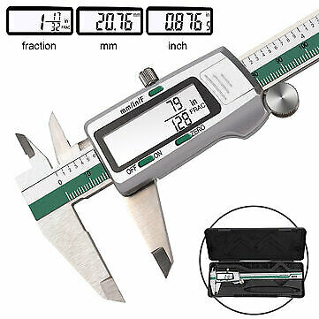 Daniu Digital Stainless Steel Caliper 150mm 6 Inches Inchmetricfractions Conve