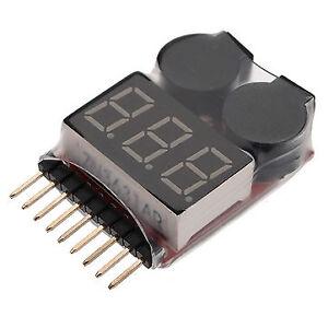 Testeur de Basse Tension LIPO 1S-8S - Alarme Bas Voltage (Neuf)