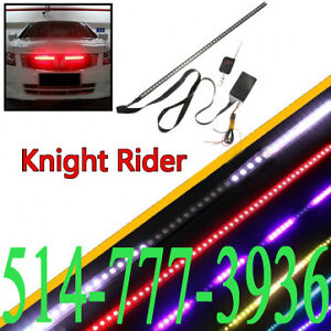 Led Knight Rider Kitt K2000 7 couleurs Light Strip Waterproof