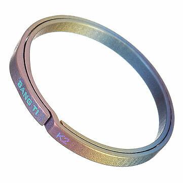 1pc Only Bang Ti K2 32mm Colorful Titanium Key Ring Nail Saving Flexible Keyring