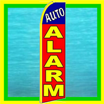 Auto Alarm Advertising Feather Swooper Bow Banner Flag