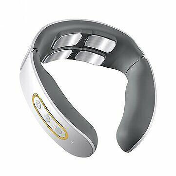 Electric Wireless Smart Neck Massager TENS Pulse Relieve Neck Pain 4 Head Vibrat