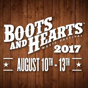 Two Boots & Hearts 2017 General Admission Passes for all 4 days