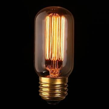 This is a squirrel filament in a radio tube valve shape vintage bulb