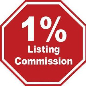 1% Listing Commission, Full Service, NO Gimmicks !