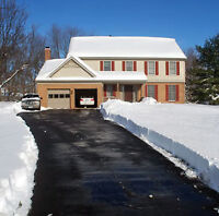 We are offering snow removal