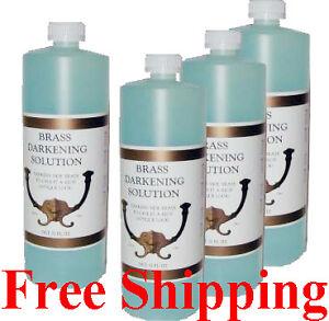 j 3499 4 brass darkening solution four 32oz bottles ebay. Black Bedroom Furniture Sets. Home Design Ideas
