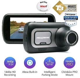 Nextbase 522GW Dash Cam In-Car 1440p Ultra HD WiFi GPS Bluetooth Alexa