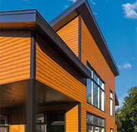 Building Materials: a window, wood and steel siding.