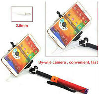 Selfie stick with cell phone holder and 3.5mm plug