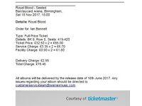 2 x Royal Blood Seated Tickets, Sat 18th November. Birmingham Arena