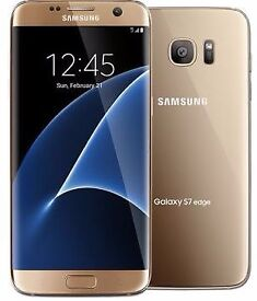 Samsung Galaxy S7 Edge - 32GB - Gold Platinum - Unlocked To All Networks!