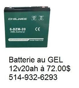 Batterie de scooter electrique DZM 12v originale GEL