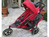 phil&teds Classic Red Jogger Single Seat Stroller