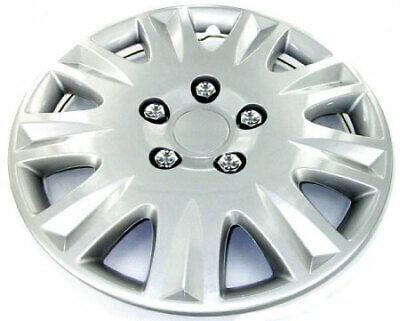 "New 15"" Hub Cap Hubcap Full Wheel Covers Rim Lug Cover Hubs for Steel Wheels Set"