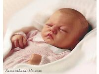 ASHTON-DRAKE LIFELIKE/LIFE-SIZE BABY DOLL - NEARLY NEW & CLOTHES, CRIB AND MORE.