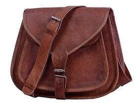 """Women's Leather Shoulder Handbag 13"""""""