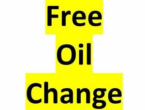 Free Oil Change....yes Free !