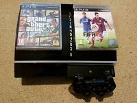 PS3 with 2 games & controller