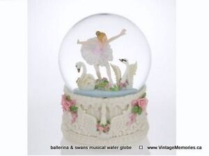 Brand New, Collectible Musical Snow Balls Water Globes 30% Off