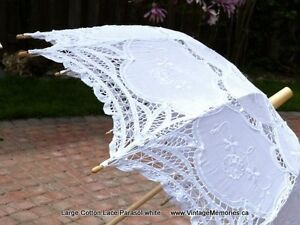 Brand new Victorian style lace parasol n accessory for wedding