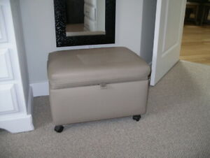 HASSOCK-OTTOMAN  SILVER-GREY COLOR $50.