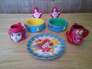 The Little Mermaid. Mugs, Bowls & Plate (7 Pieces).