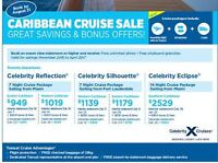 Caribbean Cruise Sale Toronto Departures Book by August 31, 2016