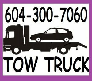 TOWING*FLAT-DECK TOW TRUCK*604-300-7060 Lower Mainland,Fr Valley