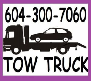 TOW TRUCK(TOWING)604-300-7060(FLAT RATES)LowerMainlnd*Frsr Vally