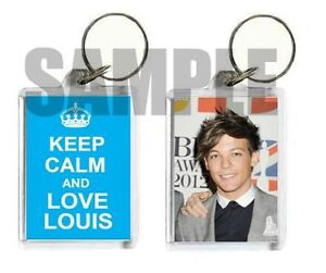 One Direction, 1D One Thing, Louis Tomlinson 'KEEP CALM AND LOVE LOUIS' Keyring