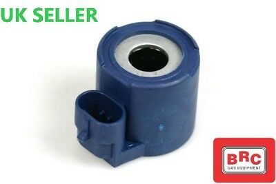 BRC BLUE Magnetic SOLENOID Coil MV 12V DC WITH AMP CONECTOR GPL/LPG/GPL
