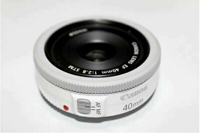 Canon EF 40mm F/2.8 STM Pancake Lens, White, Bulk Package