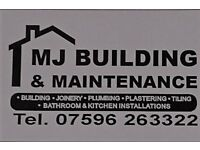 MJ Building and Maintenance fully qualified joiner 20 years experience