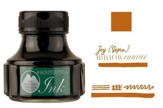 Monteverde 90ml Emotion Fountain Pen Ink Bottle, Joy Sepia Collectibles