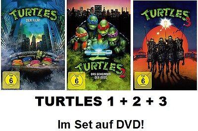 Turtles 1+2+3 (Teenage Mutant Ninja) Der Film, Geheimnis des Ooze 3x DVD (Ninja Turtle 2)