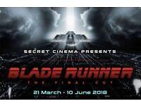 2 x £45 Secret Cinema tickets - Blade Runner (Phoenix) 29th April, London