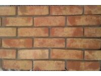 Brick tiles (slips) Rustic Antique Moorland, yellow red/black/ flamed ref 603NF Hand molding
