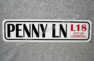 Metal Sign PENNY LANE street Liverpool England landmark road place LN  3