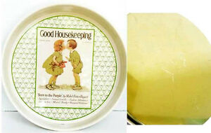 Vintage re[p Good Housekeeping Round Tray 70's