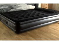 Trespass double inflatable raised air bed with inbuilt pump