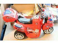 1X ROMAN CONRAD COLLECTION SIT AND RIDE 3 WHEEL SUBAKI CHILDRENS MOTORBIKE RRP £99 (MD-TLH-BIKE)