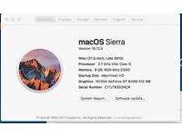 "iMac 21,5"" (late 2012) 2,7 Ghz, i5, 8GB Memory, 1TB HD"